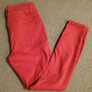Coral red Blue Spice jeans